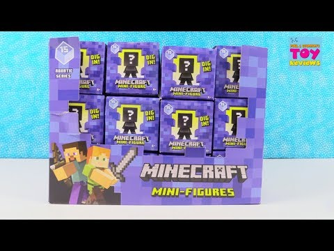 Minecraft Aquatic Series 15 Mini Figures Toy Unboxing Review | PSToyReviews