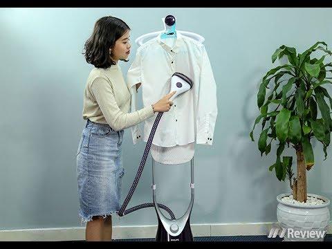 Đánh giá bàn ủi hơi nước đứng Philips ComfortTouch Plus GC558: Đặc trị vải mỏng và cầu kỳ