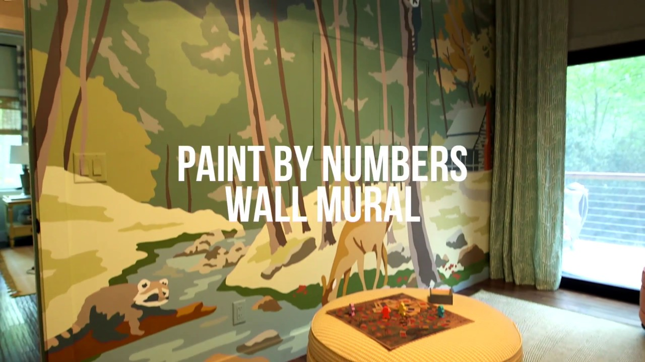 Paint By Numbers Wall Mural Diy Network