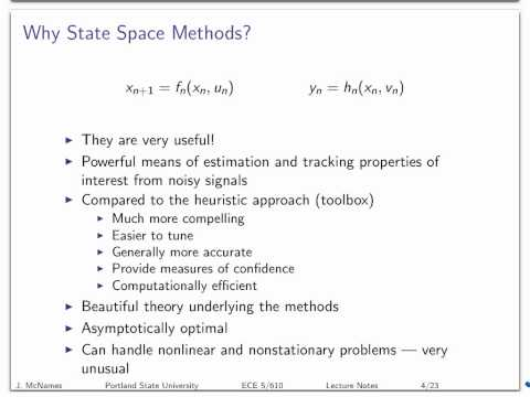 State State Tracking: Lecture 01