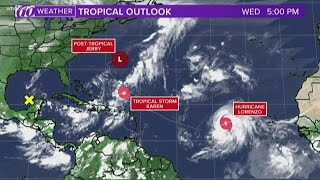 Tracking the Tropics: Watching Post-Tropical Storm Jerry, Hurricane Lorenzo and Tropical Storm Karen