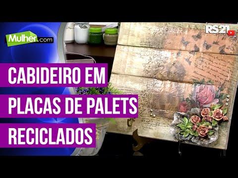 Mulher.com 13/05/2014 - Cabideiro Palets reciclados por Rose Rodrigues parte 01