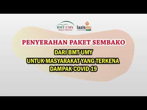 BMT UMY Bagikan Sembako Untuk Masyarakat Terdampak Covid-19