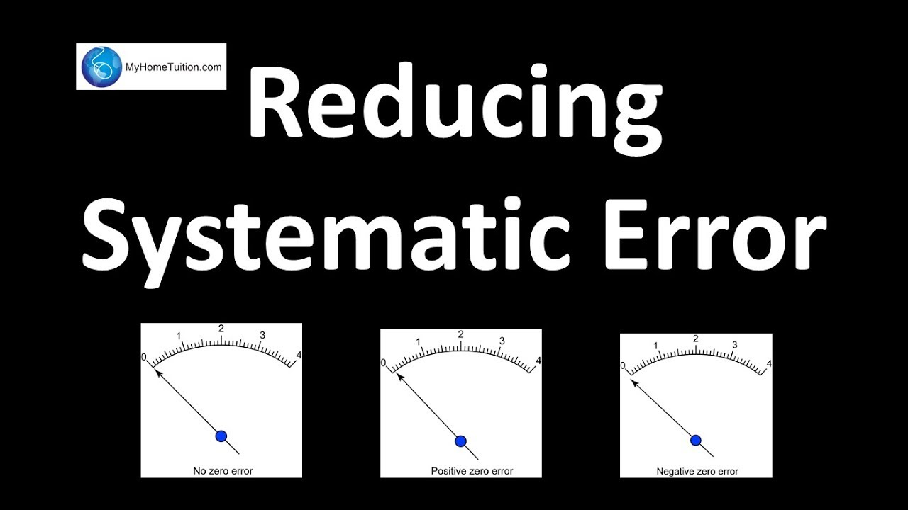 Reducing Systematic Error Introduction To Physics Youtube