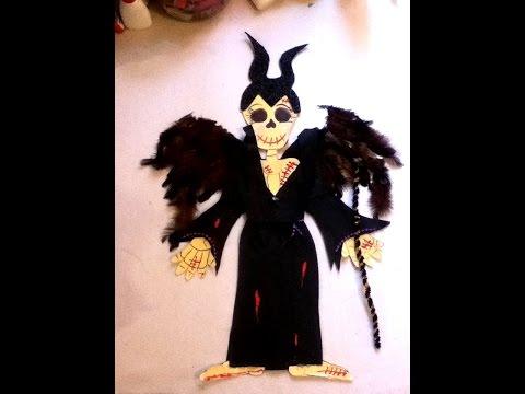 Diy Maléfica Decora Papel Esqueleto Día De Muertos Halloween