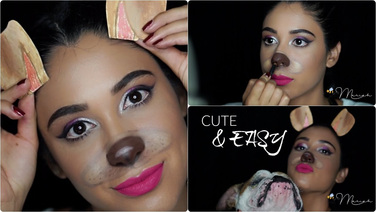 Cute & Easy Halloween Makeup Look: Snapchat Dog - YouTube