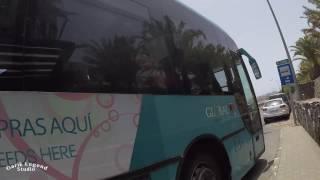 Gran Canaria, Bus from San Agustin to Maspalomas.