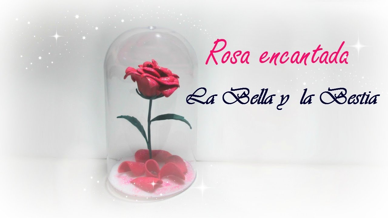 DIY rosa encantada. La Bella y la Bestia. - YouTube