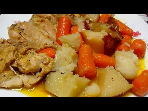 How To Make This Delicious Crock Pot / Slow Cooker One Pot Chicken Dinner