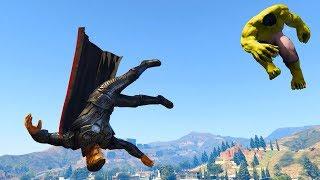 GTA 5 Hulk Vs Thor Ragdolls Compilation | (GTA 5 Fails Funny Moments Ragdolls)