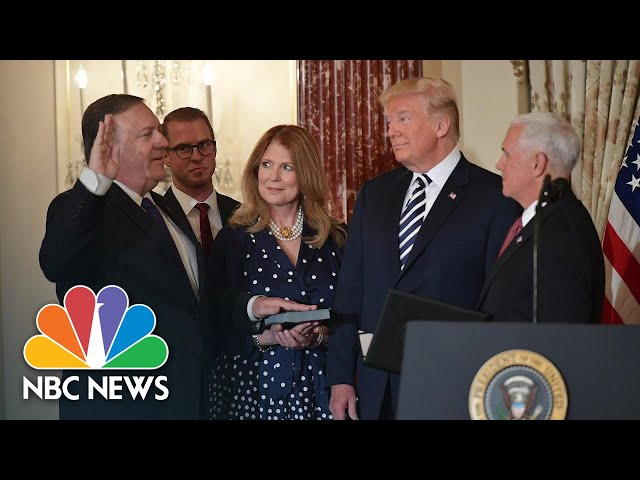 Mike Pompeo Sworn In As Secretary Of State, President Trump Expresses Absolute Confidence   NBC News