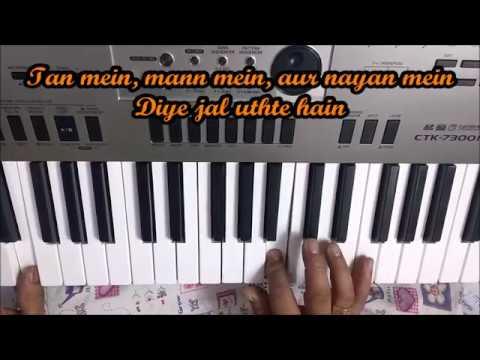Jalte diye(prem ratan dhan payo) Lyrical video-with beats on keyboard(piano)