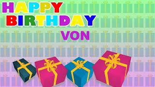 Von - Card Tarjeta_337 - Happy Birthday