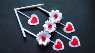 PAPER FLOWER WALL HANGING |EASY WALL DECOR IDEAS |NEWSPAPER CRAFT EASY |
