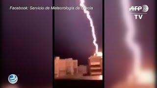 Tornado cobra vida de turistas en Grecia