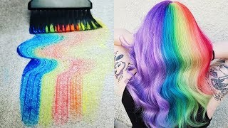 Best Makeup Tutorials 2018 | Rainbow Hair Color Trends Transformations & Dyeing | Woah Beauty