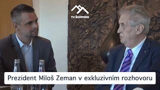Prezident Miloš Zeman v exkluzivním rozhovoru na Pradědu