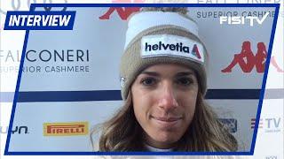 Marta Bassino dopo il 2° posto in GS a Lienz