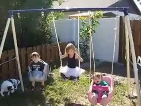 Anchoring Swingset In Cement Part 2 Youtube