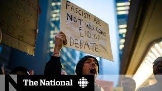 Steve Bannon, David Frum debate sparks protests and arrests in Toronto