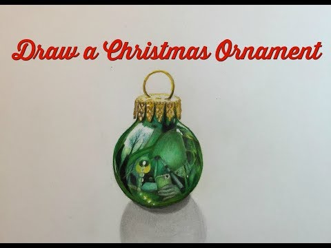 How to Draw a Realistic Christmas Ornament with Polychromos Colored Pencils