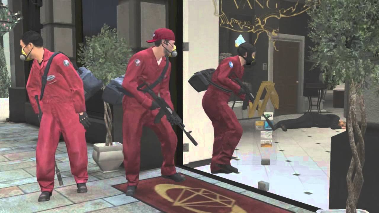 GTA 5 Jewellery Store Robbery Mission YouTube