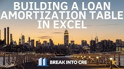 How To Build a Loan Amortization Schedule For Commercial Real Estate Investment