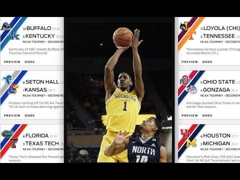 Michigan vs Houston Top Pick 3/17/18 March Madness College Basketball NCAA