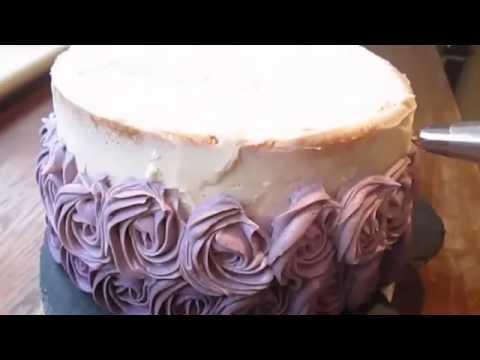как украсить торт с розами