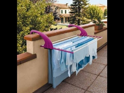 Lock Balcony Clothes Airer Wall Mounted Clothes Line