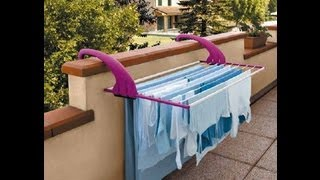 Lock Balcony Clothes Airer - Wall Mounted Clothes Line