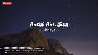 Lirik Lagu Andai Aku Bisa Chrisye ( cover by Tami Aulia) Acoustic