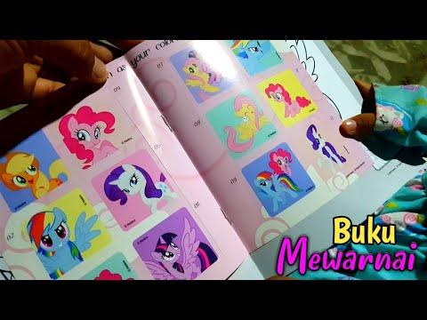 Coloring Book My Little Pony Buku Mewarnai Ada Stiker My Little