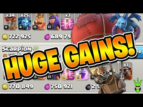 HUGE GOLD AND ELIXIR GAINS! - Let's Play TH9 Ep.11 - Clash of Clans - TH9 Loonion Farming