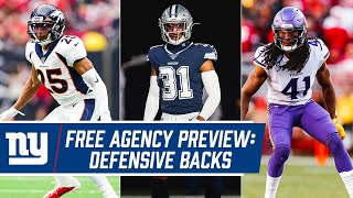 Free Agency Preview: Breaking Down the TOP Defensive Backs | New York Giants