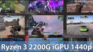 1440p Gaming AMD Ryzen 3 2200G Vega 8 APU Overclocked in 13 Games (Test)