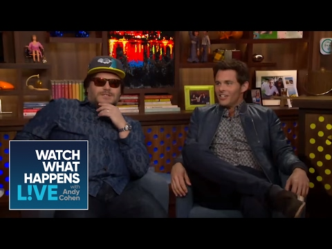 School Of Cock!  Jack Black and James Marsden Guess Celebrity Bulges  WWHL