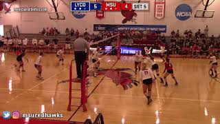 Montclair State Volleyball Highlights vs. Lycoming - 9/15/18