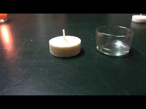 Öko-Teelichter aus Biomasse - Alternative umweltfreundliche Energie-Lösung