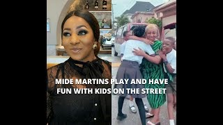 ACTRESS MIDE MARTINS PLAY AND HAVE FUN WITH KIDS ON THE STREET