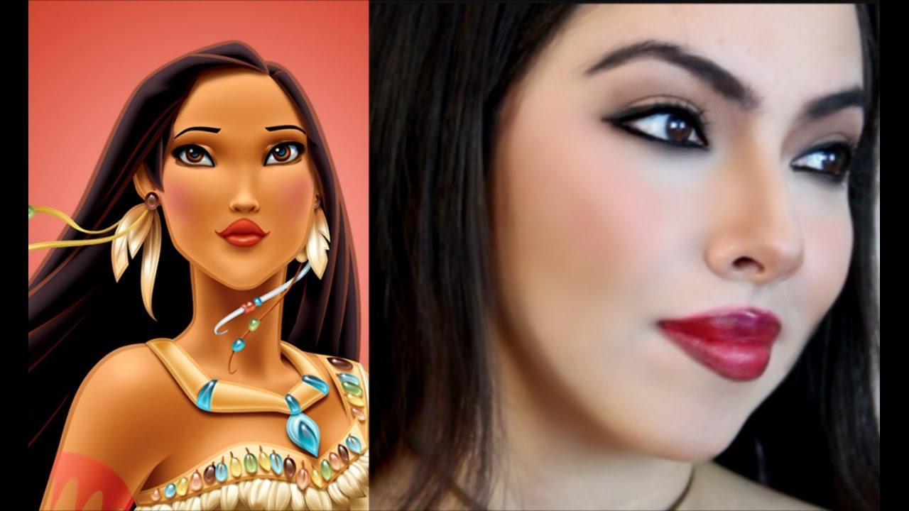Maqullate sexy como pocahontas y cmo retocar el maquillaje maqullate sexy como pocahontas y cmo retocar el maquillaje pocahontas makeup tutorial youtube baditri Images