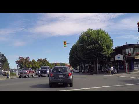 Driving in Campbell River BC Canada - Downtown / City Centre Area - Vancouver Island