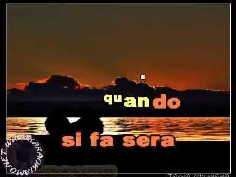 Gianni Morandi - Si fa sera (karaoke fair use)