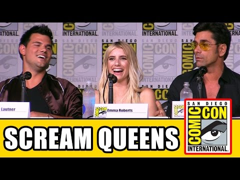 SCREAM QUEENS Season 2 Comic Con Panel (Part 1) - Emma Roberts, Billie Lourd, Taylor Lautner