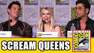 SCREAM QUEENS Season 2 Comic Con Panel (Part 1) - Emma Roberts, Billie Lourd, Taylor Lautner