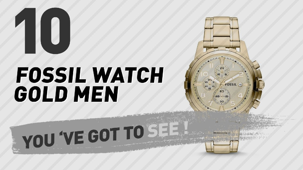 0a7df07a27f Top 10 Fossil Watch Gold Men    New   Popular 2017 - YouTube