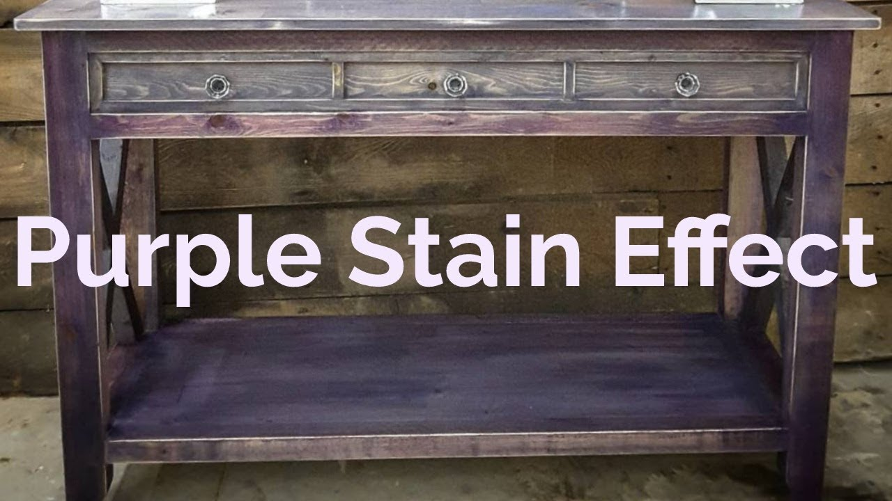 How To Create A Purple Stain Effect Rustic Duck Furniture