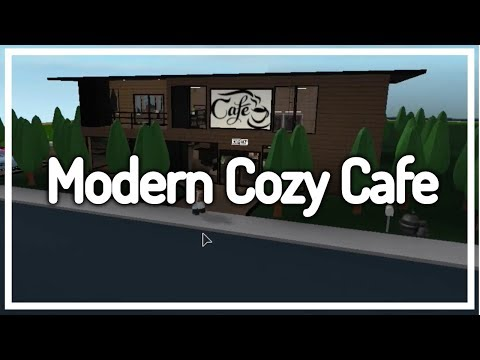 Welcome To Bloxburg - Cozy Cafe - Very Detailed!
