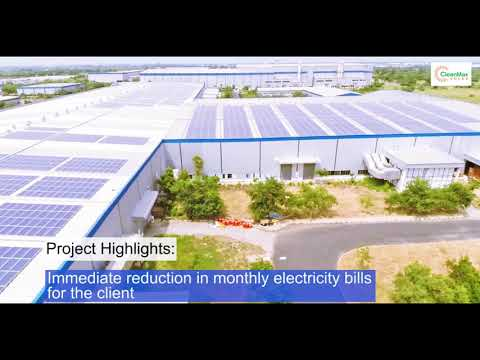CleanMax Solar's 2MWp rooftop solar project for Tata Nano at Sanand