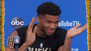 Giannis Antetokounmpo Full Interview - Game 5 Preview | 2021 NBA Finals Media Availability